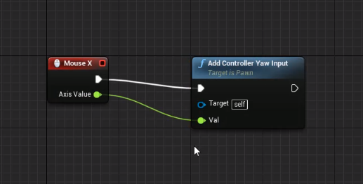 Mouse X attached to Yaw Input in Unreal Engine Blueprint